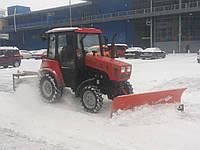 Чистка снега мини трактором