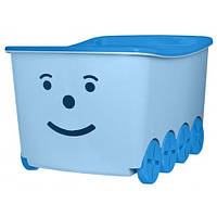 Ящик для игрушек на колесах Tega Play 52L BQ-005 (light blue-blue)