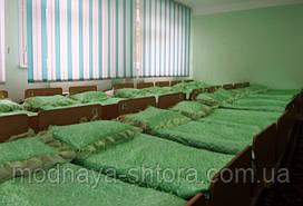 Накидка на подушку для детского сада, атласная с рюшами (размер 40х60х8 см)