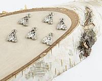 Подвеска Чешки серебро 17мм (10 штук) (товар при заказе от 200 грн)