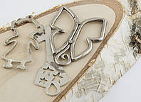 Подвеска микс серебро  (3 штук)