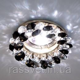 Светильник точечный (цоколь G5.3)MR16,серый-золото Feron CD4141