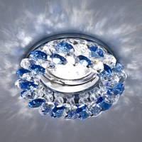 Точечный светильник (цоколь G5.3)MR16,синий-хром  Feron CD4141