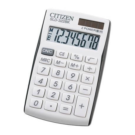 Калькулятор Citizen SLD-322BK карманный, фото 2