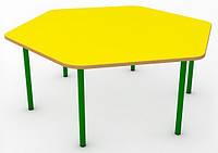 Фигурный желтый детский столик