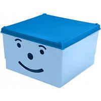 Ящик для игрушек Tega Smile BQ-007 (300*300*180) - light blue - blue