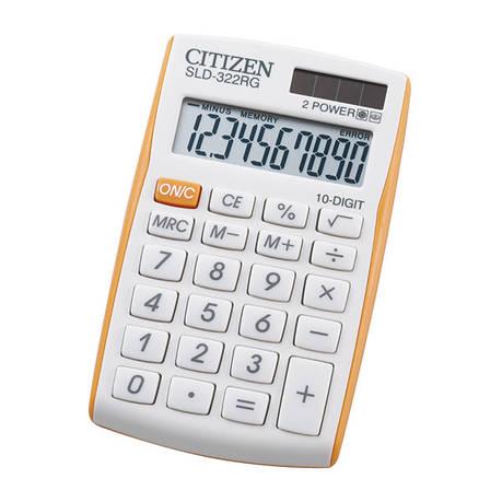 Калькулятор Citizen SLD-322RG карманный, фото 2