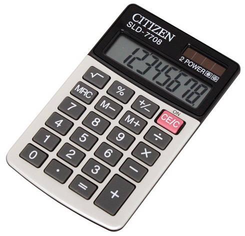 Калькулятор Citizen SLD-7708 карманный, фото 2