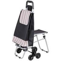 Сумка на колесах со стулом - удобная хозяйственная сумка