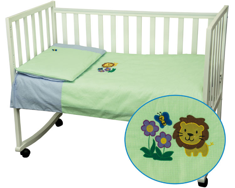 Комплект детского постельного белья «Левеня» (Салатово-голубой), Руно