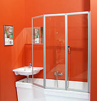 Штора для ванны VS3 100 белый TRANSPARENT