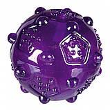 Игрушка для собак Trixie Мяч игольчатый с пищалкой, термопластичная резина (цвета в ассортименте), фото 2