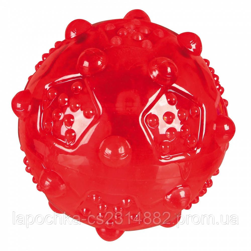 Игрушка для собак Trixie Мяч игольчатый с пищалкой, термопластичная резина (цвета в ассортименте)