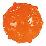 Игрушка для собак Trixie Мяч игольчатый с пищалкой, термопластичная резина (цвета в ассортименте), фото 3