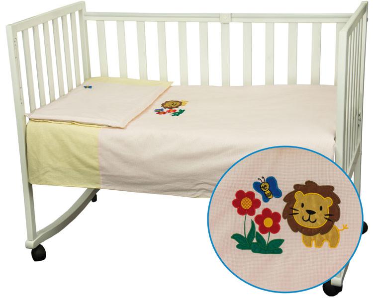 Комплект детского постельного белья «Левеня» (Розово-желтый), Руно