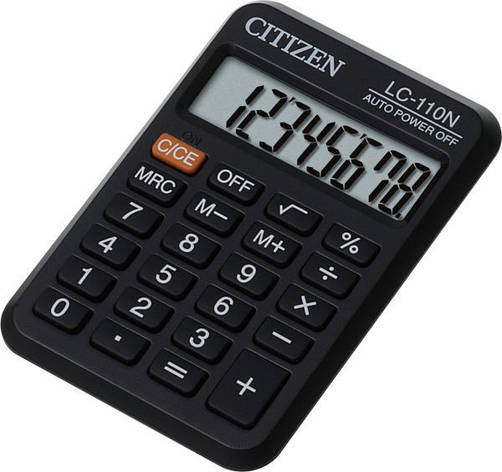Калькулятор Citizen LC-110N карманный 8р, фото 2