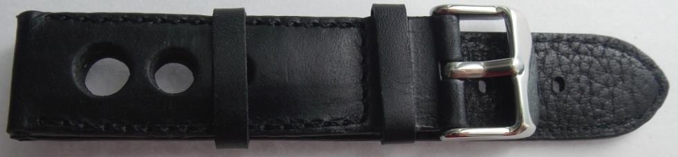 Ремешок кожаный Banda 409 (ИТАЛИЯ) черный 20 мм