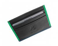 Кожаный картхолдер Visconti BD13 ERNST (BLACK/GREEN)