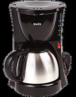 Кофеварка Magio MG-343, индикатор уровня воды, за один раз 12 чашек кофе, капельная кофеварка Magio