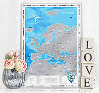 Скретч карта Discovery Map Europe (англ. язык)