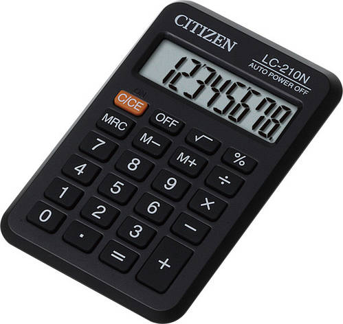 Калькулятор Citizen LC-210N карманный 8р., фото 2