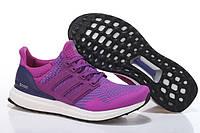 Кроссовки женские Adidas Ultra Boost Purple Whitе (в стиле адидас) фиолетовые