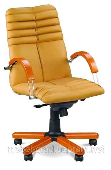 Кресло для руководителя Galaxy Wood Chrome LB / Галакси Вуд Хром LB Nowy Styl