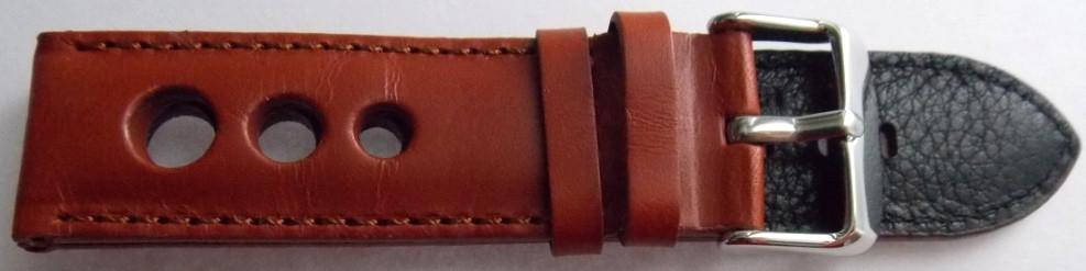 Ремешок кожаный Banda 409 (ИТАЛИЯ) коричневый 22 мм