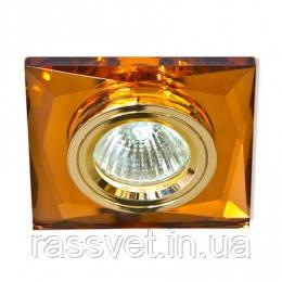 Точечный светильник Feron (цоколь G5.3)MR16,коричневое золото Feron 8150-2