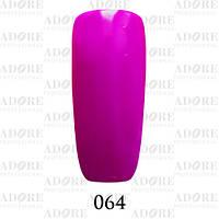 Гель-лак Adore Professional № 064 (ярко-фиолетовый,эмаль) 9мл ADR 064/96