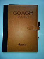 Папка тренера со встроенным планшетом футбол