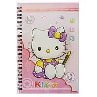 Блокнот детский А-5 Hello Kitty Х-132-1305 60 листов с аппликацией, спираль сбоку, ассорти