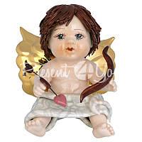 Статуэтка «Купидон с темными волосами с луком и стрелой» Zampiva, h-12 см.
