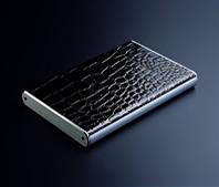 """Карман для винчестера 2,5"""" внешний 3QHDD-U225-EB USB2.0 Черный крокодил полностью аллюминиевый"""