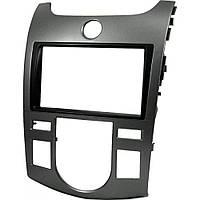 Рамка переходная 11-413 Kia Cerato,Forte 2009+Auto Aircondition (Carav) black