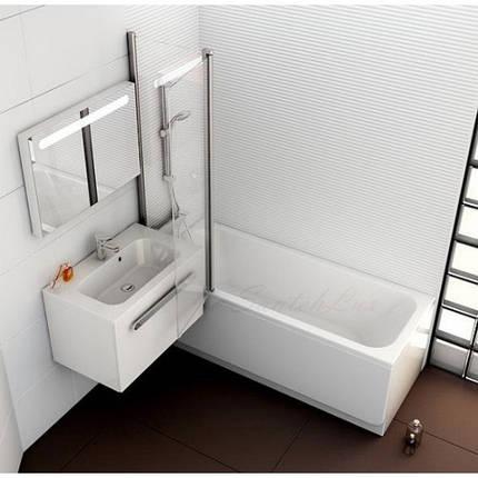 Штора для ванны Ravak CVS2-100 L/R Полир.алюм. TRANSPARENT, фото 2