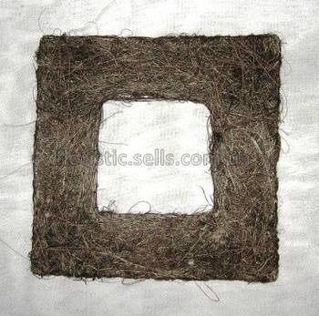 Рамка из сизаля 15/15 см, коричневая