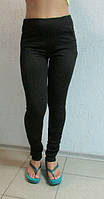 Женские спортивные лосины ADIDAS (00861) черные код 060Б