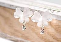 Женские серьги с милыми бабочками