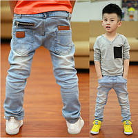 Детские тонкие джинсы, брюки