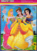 Наклейка-стикер принцессы голограмма  25  х  22
