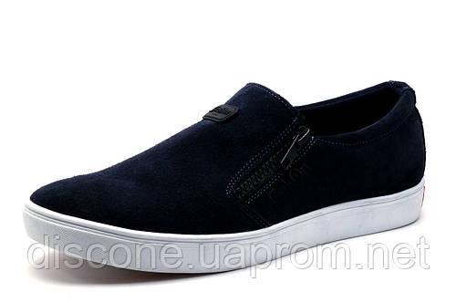 Спортивные туфли Gekon 66SVEL, мужские, натуральная замша, синие, р. 41