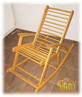 Кресло качалка светлое из дерева ТМ КИНД