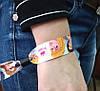 Тканые браслеты, ширина 1,5 см с полноцветной печатью, фото 2