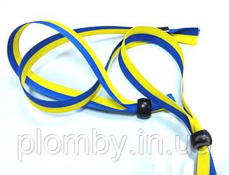 Браслет тканинний WOVEN-15-braid, ширина 1,5 см, двоколор прапор України
