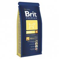Корм для щенков и молодых собак средних пород BRIT Premium «Junior M» 3 кг