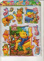 Наклейка-стикер мультик обьемный  23  х  20