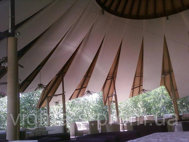 Декорирование потолков тканью