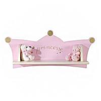 Настенная полочка Micuna E1351 Princesse Белый с розовым