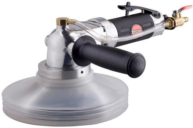 Пневматическая угловая шлифовальная машинка для камня с подачей воды Suntech SM-618W/M14